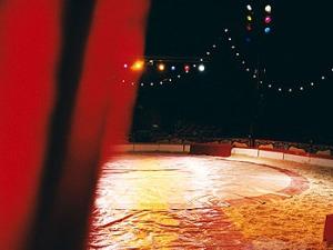 Empty circus stage